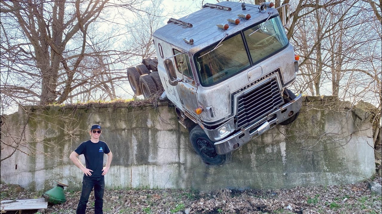 FRANK the Cabover drives off a 10ft wall (Last Frank Video Ever)