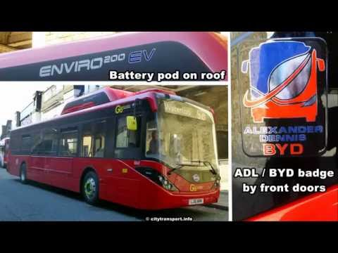 London's new BYD ADL SEe Battery Electric buses