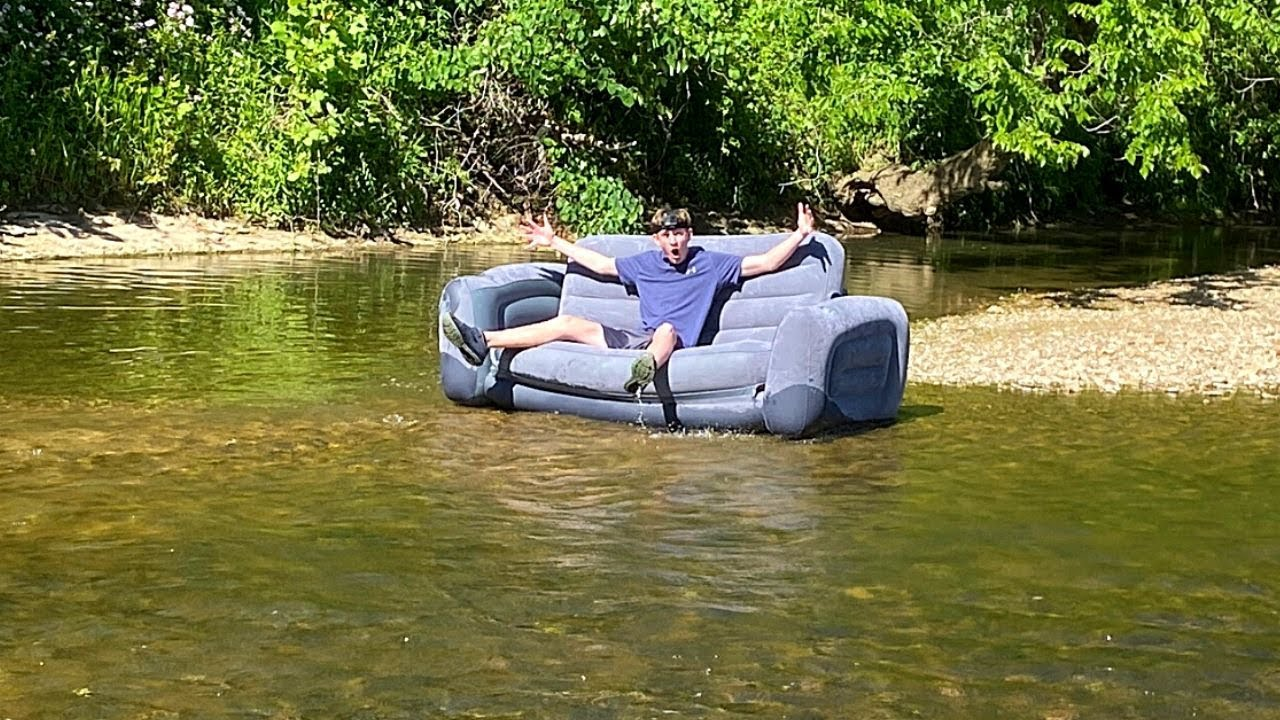 Taking A Couch Down The Creek (IT WAS INSANE!!!!)
