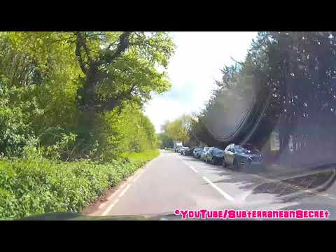 Speeded up Journey from the Goytre Countryside to Newport, South East Wales, May 2018