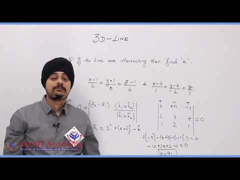 3D Lines Maths Part-2 std 12th HSC Board Video Lecture BY Rao IIT Academy