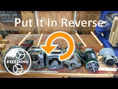 017. How To Reverse the Direction Of Universal and Induction Motors