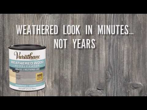 Get a Weathered Wood Look in Minutes with Varathane® Weathered Wood Accelerator