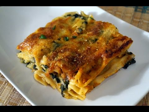 Vegetable Lasagne (Lasagna) inTamil !!CREAMY CHEESY SAUCY!! Spinach and Mushrooms!