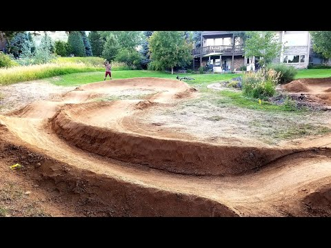My First Back Yard Pump Track Build in Denver Colorado.