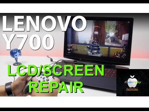 How to replace the lcd/screen on Lenovo Y700 17ISK (easy fix)
