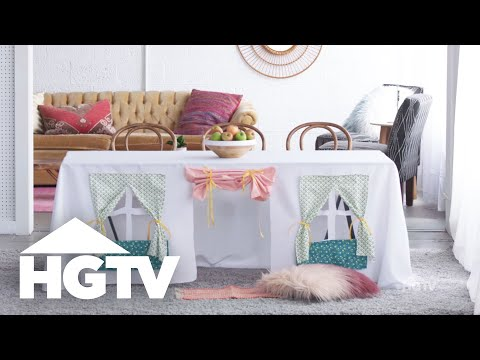 DIY Tablecloth Playhouse - HGTV Happy