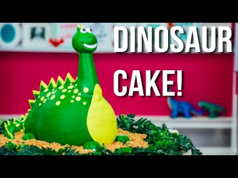 How To Make A DINOSAUR CAKE! A Chocolate CAKEASAURUS REX For My Son's 3rd BIRTHDAY!