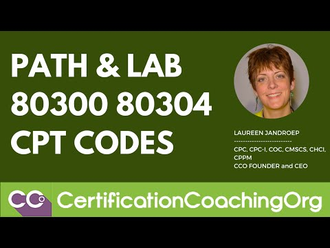 Path and Lab 80300 80304 CPT codes