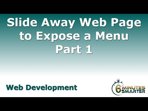 Slide Away Web Page Exposes Nav Menu Part 1