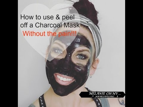 How to apply and remove a Charcoal Mask without the Pain