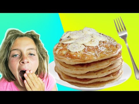 How To Make Banana Pancake Recipe With Chef Ava | Breakfast In Bed | Kids Cooking and Crafts