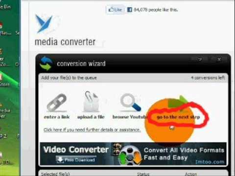Online Media Converter: to convert  AVI videos into WMV