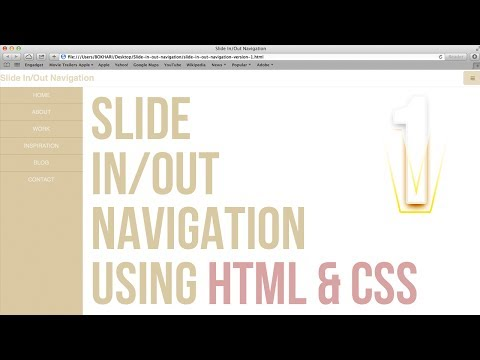 How to Create Slide In/Out Navigation Simply Using HTML & CSS