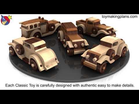 Wood Toy Plans - Quick N Easy Antique 5 Car Fleet