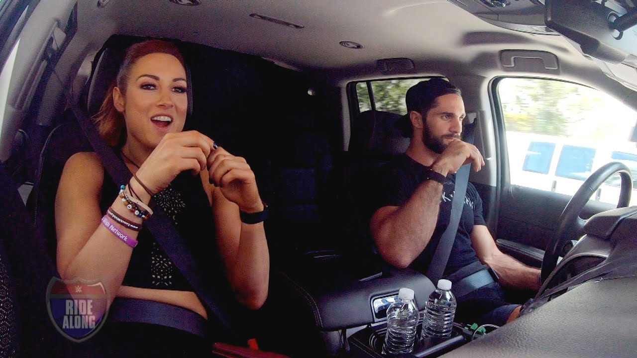 Becky Lynch and Seth Rollins get into an argument over chocolate on WWE Ride Along
