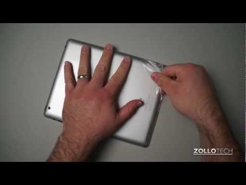 Removing a ZAGG InvisibleSHIELD from an iPad