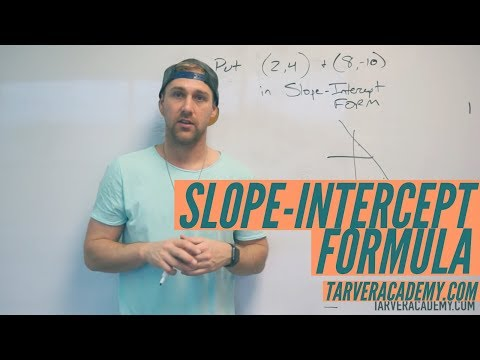 Putting Points in Slope Intercept Form y=mx+b FOR FUN // TARVER ACADEMY MATH