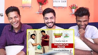 INDIANS react to Washroom Funny Prank   By Nadir Ali In   P4 Pakao