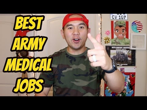TOP 5 BEST JOBS in the ARMY! Enlisted Medical Jobs in the Army!