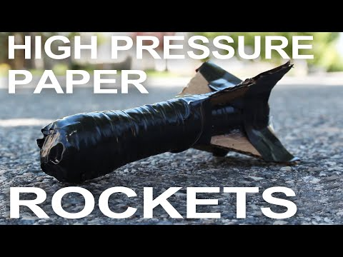 Paper Rockets That Fly 300 Feet