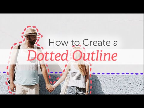 How to Create a Dotted Outline With PicsArt