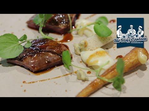 2-Michelin star chef Sat Bains creates a recipe with Mallard, parsnip pear, blue cheese