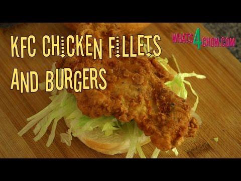 KFC Chicken Burger - Original Recipe - The Real Secret to KFC Fried Chicken 1st by Whats4Chow.com