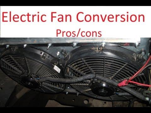 Clutch fan VS electric fan