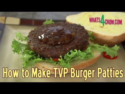 How to Make TVP Vegetarian Burger Patties - Textured Vegetable Protein Burger Patties