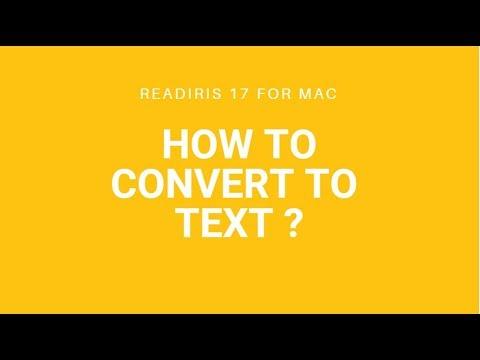 Readiris 17 Mac: Convert to Text
