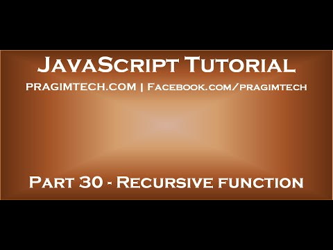 Recursive function in JavaScript