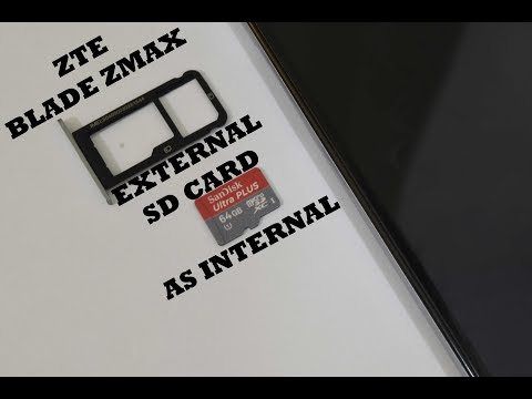 How to make an external SD Card as internal storage on the ZTE Blade Zmax