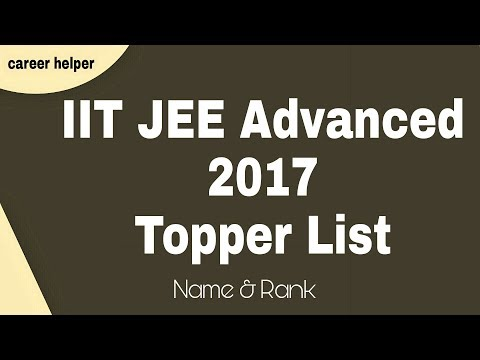 IIT JEE Advanced 2017 Topper List | Name and Rank