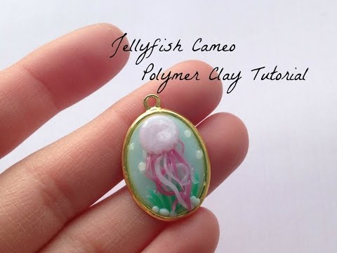Jelly Fish Cameo | Polymer Clay Tutorial