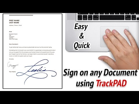 MacBook Pro tips and tricks 2017 - How to sign on any documents using TrackPad on MacBook Pro