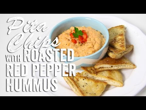 Pita Chips with Roasted Red Pepper Hummus Recipe (Game Day Bites): Bits & Pieces - Season 2, Ep. 9