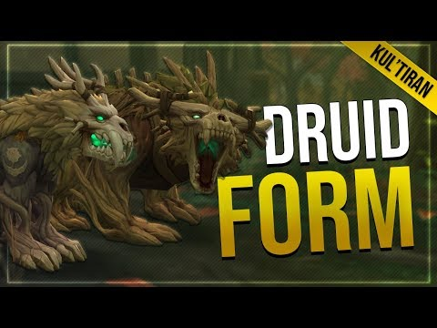 Kul'Tiran Human Druid -  Cat & Gurdian Form With Animations   In game Preview!