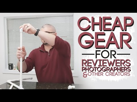 Cheap Budget Overhead Tripod   DIY How To Build for Reviewers & Other Content Creators
