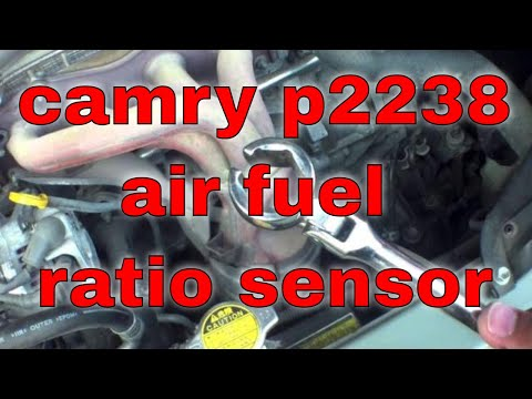 How to replace air fuel ratio sensor P2238 Toyota Camry √