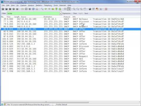 Finding the Rogue DHCP server With Wireshark