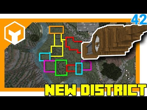 HOW TO LAYOUT A CITY DISTRICT ⛏ A Minecraft 1.12 Lets Play 42