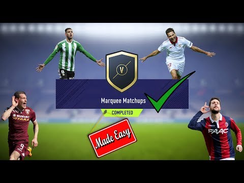 FIFA 18 Marquee Matchups Made Easy!     January 2nd
