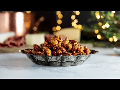 Candied Cajun Nuts + My Holiday Party!