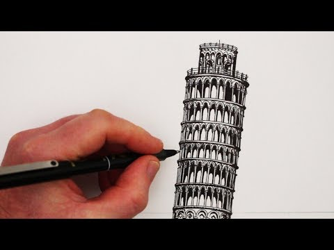 How to Draw Famous Buildings: The Leaning Tower of Pisa
