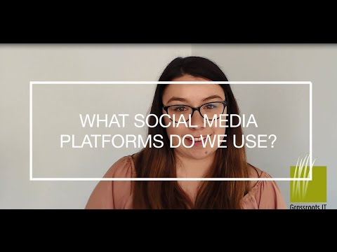 What social media platforms do we use?