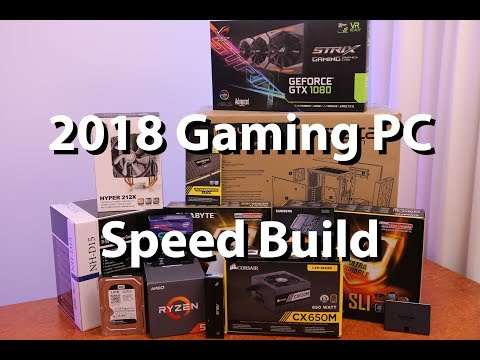 How to Build a PC 2018 - 6 Minute Speed Build!! - No Commentary - Gaming PC
