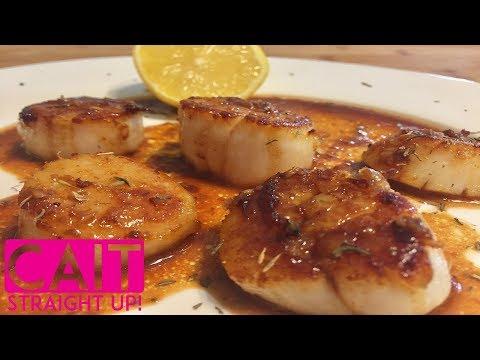 Pan Seared Scallops Recipe | Cait Straight Up