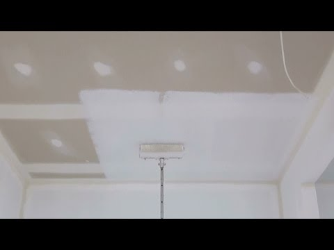 How To Paint A Ceiling - How to paint a ceiling using a roller.