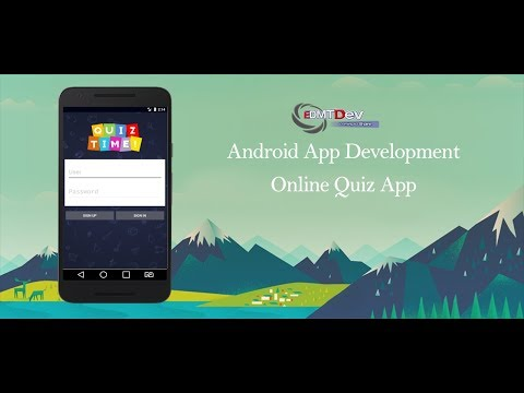Android Studio Tutorial - Online Quiz App Part 2 (Home Screen using Fragments) edmt dev